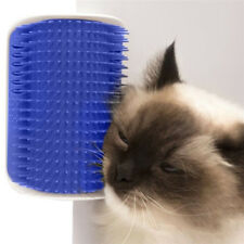 1x Blue Pet Cat Self Groomer Brush Wall Corner Grooming Massager Comb Catnip Toy
