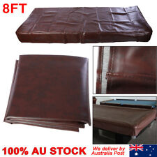 8ft Pool Snooker Billiard Table Cover Fitted Heavy Duty Vinyl Brown Color