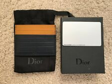 NWT Dior Homme card holder leather blue multicolor