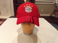 e757ec1dfd8 FC Bayern Munchen Munich Adidas Soccer 4 Star 3-Stripes Strapback Baseball  Hat