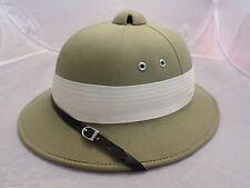 PITH HELMET TAG Safari Clothing tan khaki Bermuda adjustable hat 60