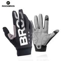RockBros Winter Cycling Full Finger Gloves Windproof Warm Fleece Gloves Black