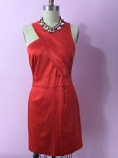Vera Wang Lavender Label Red Orange cross back cocktail dress Sz 12