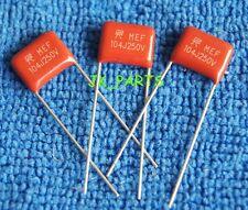 100PCS CBB 104J 250V 0.1uF 10nF P=10MM Metallized Film Capacitor