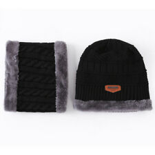 Hot Fashion Beanie Hat Scarf Set Knit Hat Warm Thick Winter Cap For Men Women