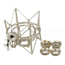 More details for large metal square spider shock mount for newman u87 microphone recording silver