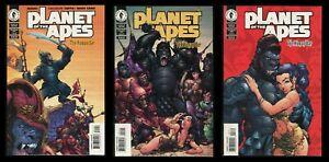 Planet of the Apes The Human War Comic Set 1-2-3 Cover A J. Scott Campbell POTA