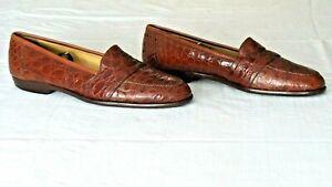 RARE $1,300+ BRAGANO COLE HAAN Genuine Crocodile Alligator Loafers Boots Shoe 11