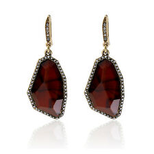 Visual Roar Rebel Red Tiger Eye Drop Earrings Ferocious Appetite for Glamour Art