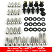 Stainless Steel Complete Fairing Bolts Nuts Kit For Kawasaki Versys650 2010-2014