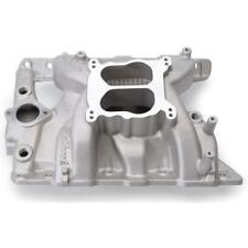 Edelbrock Intake Manifold 7156; Dual Plane Satin Aluminum for Pontiac 326-455 V8