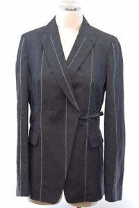 NWT $3295 Brunello Cucinelli Knit Striped Wrap Tie Detail Blazer Jacket 42  A176