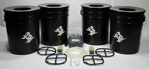 4 Bucket 5 Gallon Deep Water Culture (DWC) Hydroponic System Kit Grow Bucket