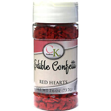 Heart Red Edible Confetti sprinkles for Cupcakes, Cookies & Candy