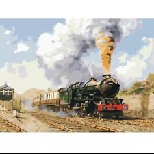 DIY Canvas oil Painting Paint By Numbers Old Engine Kit Include Colours+brush
