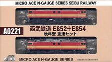 Microace a0221 JR Electric Locomotive EF852/4, 2 pc set, n scale, ships from USA