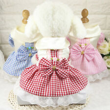 Summer Pet Dog Wedding Bowknot Floral Dress Princess Skirt Clothes For Small Dog