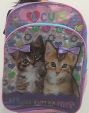 """Backpack """"16"""" 2 cute Are you kitten me - 3 Years to 7 years- School"""