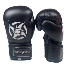Shinobi Raven Boxing Gloves - Black - 16oz
