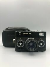 Rollei 35 Black Paint with Tessar 40mm f/3.5 35mm Film Camera Made in Germany