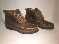 Vintage Mens Bally Lace up Leather Boots Size 6 Brown