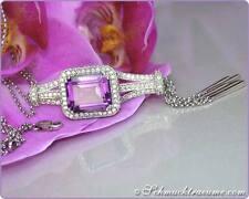 Unbehandelte Halsketten und Anhänger mit echten Diamanten Edelsteinen