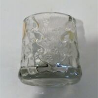 Crystal Clear Votive Candle Holder Made in Indonesia Vintage