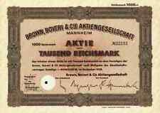 Brown Boveri Mannheim bbc abb 1938 zurich VÄSTERAS asea 1000 RM VÄSTERAS sueco