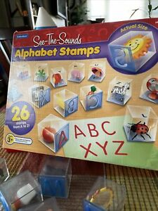 """Lakeshore """"See The Sounds"""" Alphabet Stamps Vintage Lakeshore"""