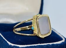Georgian 18k GOLD & AGATE SEAL & Grapes, Leaves & Turquoise Conversion RING - N