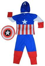 NEW SIZE 2-12 KIDS COSTUMES BOYS CAPTAIN AMERICA PARTY SUPERHEROES MASK AVENGER