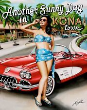 """Another Sunny Day in Kona"", 16x20  unmatted & rolled Print by artist Garry Palm"