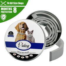 Pet Flea and Tick Collar for Dogs Cat Waterproof Kills Fleas Prevents 8 Months