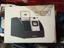 Brookstone E-PAD Charging Station Valet black BRAND NEW IN BOX - BEST OFFER