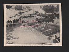 1915, Bildnis Fotografie Eisbrecher auf der Angerapp bei Mühle Kisselen