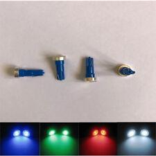 4x T5 W2W 12V 1W Car Interior Dashboard Instrument Light LED Bulb Blue Colour
