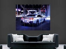 NISSAN SKYLINE POSTER GTR R34 R35 USA RACING CAR SPEED PRINT IMAGE LIGHTS