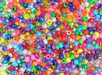 Beads 4-in-1 Assorted Pearlised Glitter Metallic Bright Pony Beads Pack of 1000
