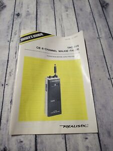 Realistic TRC-215  6 Channel Citizens Band Transceiver MANUAL ONLY