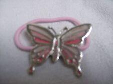 Banda de pelo cola de caballo titular Mariposa Rosa Y Plata