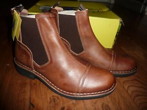 Fly London Mens chelsea tan leather ankle boots size 6.5UK 40EU new RRP 110£