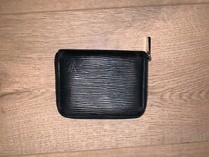 Louis Vuitton LV503 Black Epi Leather Compact Zippy Zip Around Wallet