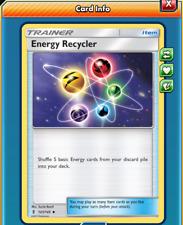 Pokemon TCG ONLINE x4 Energy Recycler (DIGITAL CARD) Trainer Item
