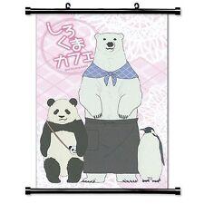 Polar Bear Cafe Anime Poster Wall Scroll  Home Decor Fabric 40*60cm