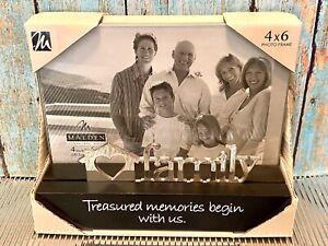Family - Treasured Memories Begin With Us 4x6 Photo Frame Black Silver Malden