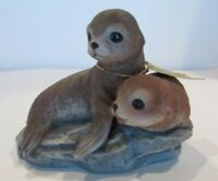 Masterpiece by Homco 1981 Sea Lions Baby Seals Figurine