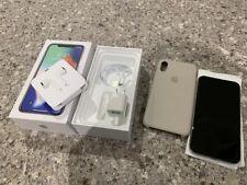 Apple Iphone X 256GB Silver UNLOCKED A1901 MQAN2LL/A Apple Care +