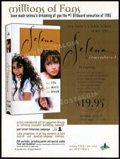 SELENA Quintanilla REMEMBERED__Original 1995 Trade print AD / video music promo