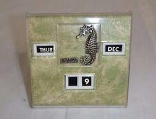 Vtg Mid Century Perpetual Desk Calendar Seahorse Florida Souvenir Kitschy!!
