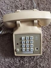 Vintage AT&T Touchtone Tan Push Button Corded Desk Telephone Working